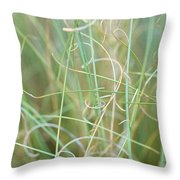 Abstract Curly Grass One Throw Pillow