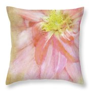 Abstract Dahlia In Pink Throw Pillow