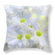 Abstract Daisy Boquet Throw Pillow