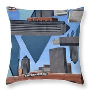 Abstract Dallas Throw Pillow