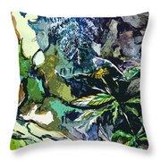 Abstract Dandelion Throw Pillow
