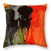 Abstract Dark Angel Throw Pillow