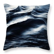 Abstract Dark Blurred Ripples Throw Pillow