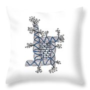 Abstract Design Of Stumps And Bricks #2 Throw Pillow
