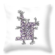 Abstract Design Of Stumps And Bricks #3 Throw Pillow
