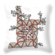 Abstract Design Of Stumps And Bricks Throw Pillow