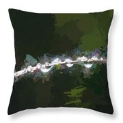 Abstract Dew On Reed Throw Pillow