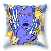 Angeonilium V2 - Blue Beauty Throw Pillow