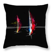 Abstract Digital Boats Throw Pillow