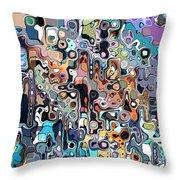 Abstract Digital Doodle 2 Throw Pillow