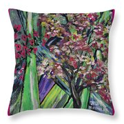 Abstract Dogwood Throw Pillow
