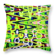 Abstract Dr #6 Throw Pillow