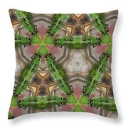 Abstract Dragons Throw Pillow