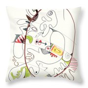 Abstract Drawing Fifty-four Throw Pillow
