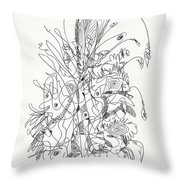 Abstract Drawing Fifty-nine Throw Pillow