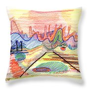 Abstract Drawing Five Throw Pillow