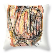 Abstract Drawing Forty-five Throw Pillow
