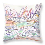 Abstract Drawing Nineteen Throw Pillow