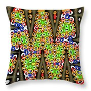 Abstract Drawing Panel Throw Pillow