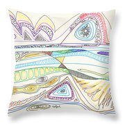 Abstract Drawing Seventeen Throw Pillow