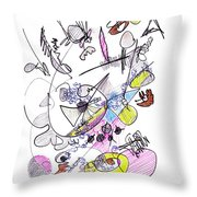 Abstract Drawing Seventy-two Throw Pillow