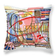 Abstract Drawing Sixty-eight Throw Pillow