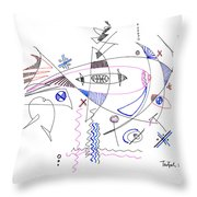 Abstract Drawing Sixty-four Throw Pillow