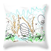 Abstract Drawing Sixty-one Throw Pillow