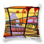 Abstract Drawing Sixty-seven Throw Pillow