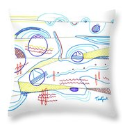 Abstract Drawing Sixty-three Throw Pillow