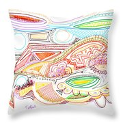 Abstract Drawing Sixty-two Throw Pillow