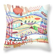Abstract Drawing Three Throw Pillow