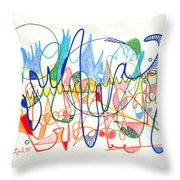 Abstract Drawing Two Throw Pillow