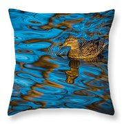 Abstract Duck Throw Pillow