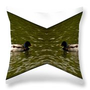 Abstract Ducks Throw Pillow
