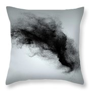 Abstract Dust Cloud Background Throw Pillow