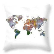 Abstract Earth Art Throw Pillow