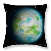 Abstract Earth Throw Pillow