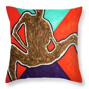 Abstract Ebony Nude Sitting Throw Pillow