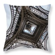 Abstract Eiffel Tower Looking Up 2 Throw Pillow