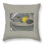 Abstract Entrada Twirl Break Throw Pillow