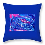 Abstract Experiment Throw Pillow