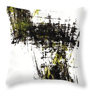 Abstract Expressionism Intensive Painting 62.102511   Throw Pillow