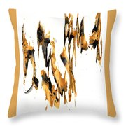 Abstract Expressionism Painting Series 734.102910 Throw Pillow
