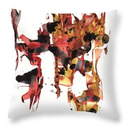 Abstract Expressionism Painting Series 744.102110 Throw Pillow