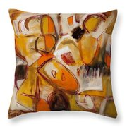 Abstract Expressionism Three Throw Pillow