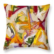Abstract Expressionism Two Throw Pillow