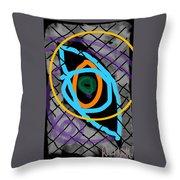 Abstract Eye Throw Pillow