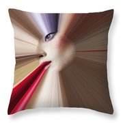 Abstract Face Throw Pillow by Garry Gay