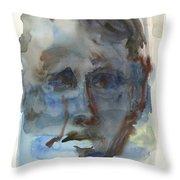 Abstract Face Throw Pillow